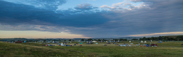 Dakota Access Pipeline protest at the Sacred Stone Camp near Cannon Ball, North Dakota. Photo by Tony Webster