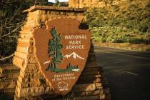 National Park Service entry sign photo courtesy of River North Photography